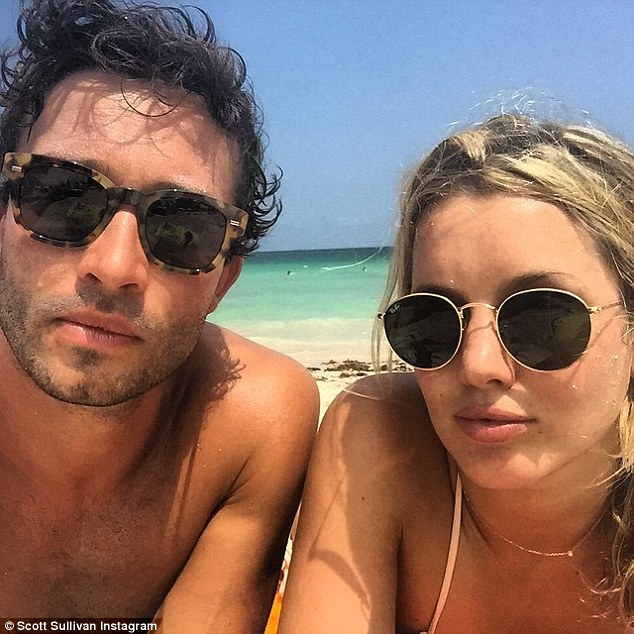 Loved up: The pair have been soaking up the sunshine on Miami beach and enjoying some quality time together