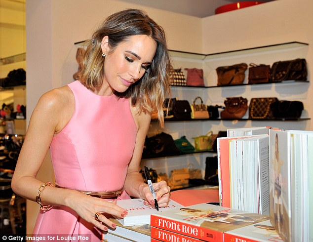 The write stuff: Lucky guests were given signed copies of Louise's new book