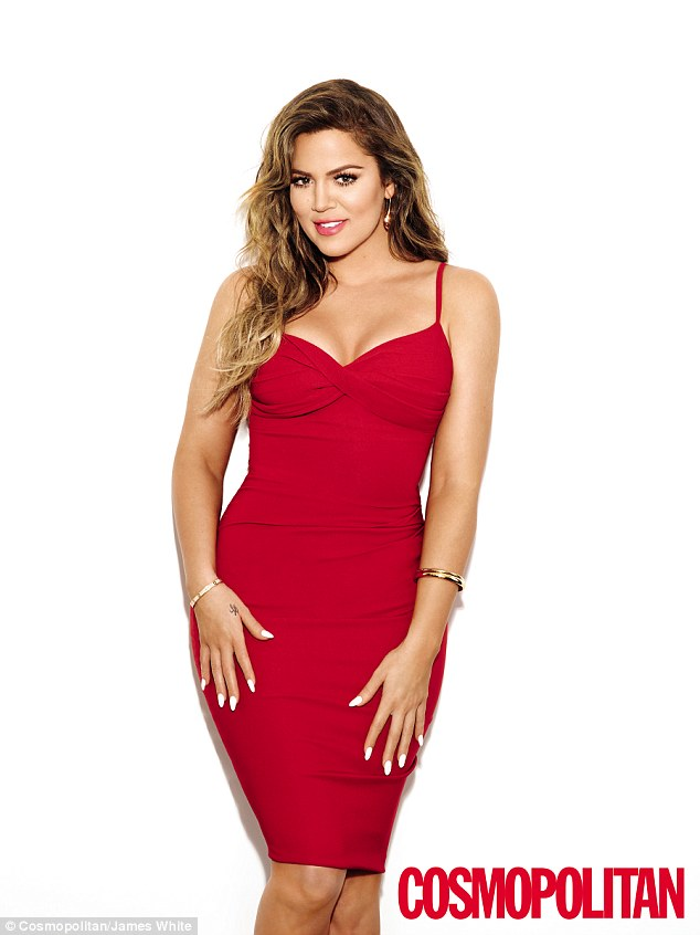 Red hot: The 30-year-old Keeping Up With The Kardashians star has spoken frankly about her body image in the ninth issue of the Cosmopolitan magazine offshoot