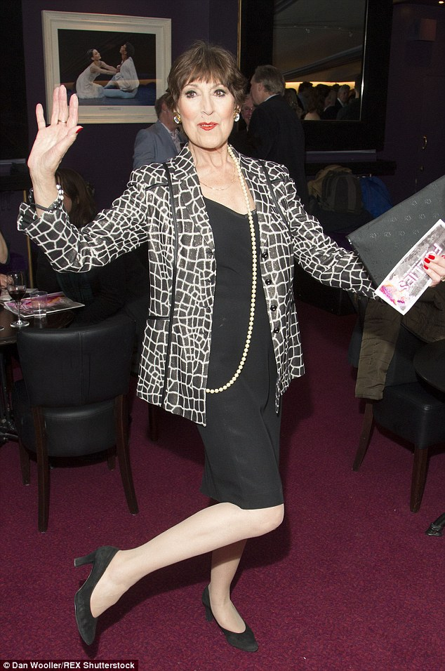 Still dancing: Acting legend Anita Harris couldn't stop with the moves even after appearing on stage