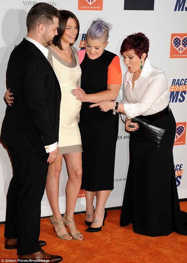 Close bond: Jack, Lisa, Kelly and Sharon were seen at the Race to Erase MS event on Friday. Jack was diagnosed with relapsing-remitting multiple sclerosis in 2012