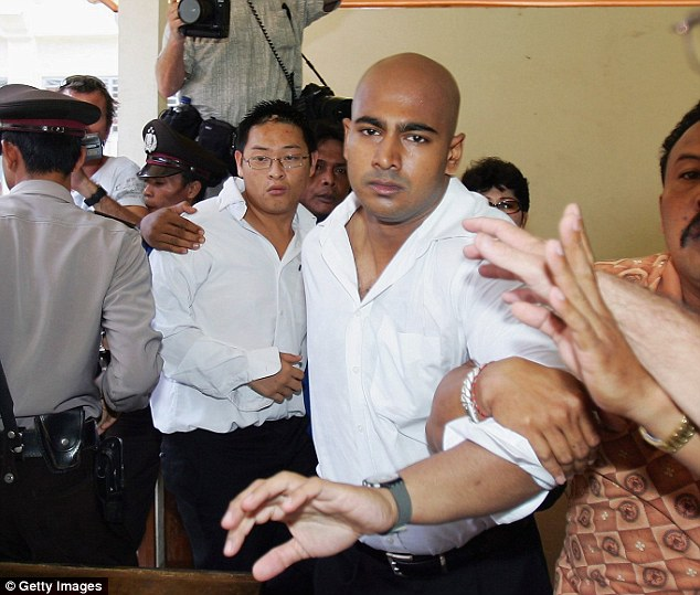 Tragic end: Reformed drug smugglers Chan (left) andSukumaran (right) were put to death at 3:25am Australian Eastern Standard Time on Wednesday morning