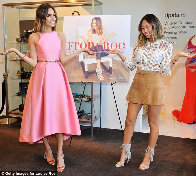 In style: Louise and co-host Aimee Song of the Song of Style blog strike a pose at the event