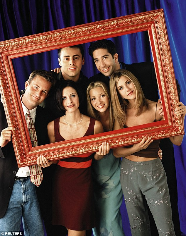Flakiness: While Friends pairings have happened frequently, Courteney insisted that at least one actor always flaked out when the whole group tried to meet, hinting that it is her former on-screen brother David Schwimmer (top right)