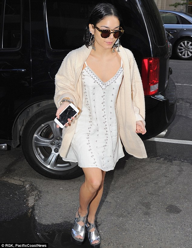 I want to be a part of it... Vanessa Hudgens was spotted out and about in New York City on Tuesday