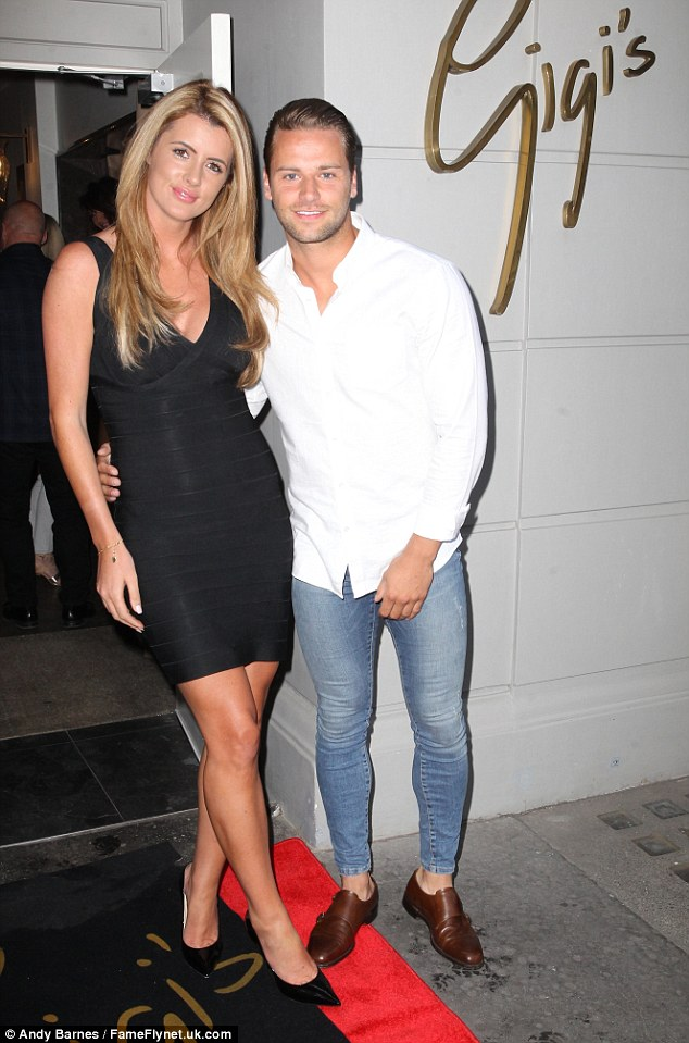 Reality TV showdown: Ex-Apprentice James Hill partied withHelen Wood at the London bash