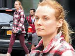 Diane Kruger goes to the gym in NYC. Diane was looking fashionable as she made her way to the gym in NYC on Wednesday evening.  Pictured: Diane Kruger Ref: SPL1150052  141015   Picture by: Tom Meinelt / Splash News  Splash News and Pictures Los Angeles: 310-821-2666 New York: 212-619-2666 London: 870-934-2666 photodesk@splashnews.com