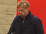 Liverpools manager klopp arriving at Melwood today looking like hes got a lot on his mind.