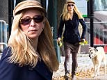 NEW YORK, NY - OCTOBER 14:  Jennifer Westfeldt is seen walking her dog Cora around Central Pakr on October 14, 2015 in New York City.  (Photo by Alessio Botticelli/GC Images)