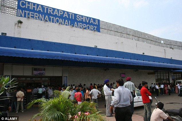 Cleaning staff working at Mumbai Airport say they have not had a pay rise for eight years (file photo)