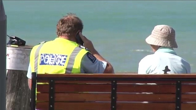 Hopes were fading today for the missing man as a search by frogmen and helicopter crews continued