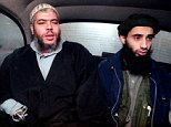 """Haroon Aswat RIGHT Radical cleric Abu Hamza al Masri, left, rides in a car in London, January 20, 1999, with Haroon Aswat, a suspect in the London bombings.  Aswat lived at a Seattle mosque in early 2000. Abu Hamza has been described in a federal indictment as """"a terrorist facilitator with a global reach."""" He lost both hands in an explosion. DO NOT DISTRIBUTE THIS IMAGE !!!!!! FN"""