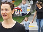 Picture Shows: Samuel Affleck, Jennifer Garner  October 16, 2015\n \n American actress and recently single mother Jennifer Garner is spotted out and about in Brentwood, California with her cute son Samuel. \n \n Despite separating from husband Ben Affleck earlier this year, the former couple have continued to do things as a family to make the divorce easy on their three young kids.\n \n Non Exclusive\n UK RIGHTS ONLY\n \n Pictures by : FameFlynet UK © 2015\n Tel : +44 (0)20 3551 5049\n Email : info@fameflynet.uk.com