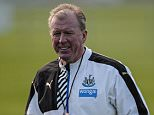 NEWCASTLE UPON TYNE, ENGLAND - OCTOBER 15: Newcastle Head Coach Steve McClaren holds his whistle in his hand during the Newcastle United Training session at The Newcastle United Training Centre on October 15, 2015, in Newcastle upon Tyne, England. (Photo by Serena Taylor/Newcastle United via Getty Images)