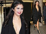 Selena Gomez spotted wearing a black veil as leaving the NBC studios after attending The Tonight Show Starring Jimmy Fallon in New York City  Pictured: Selena Gomez Ref: SPL1151853  141015   Picture by: Felipe Ramales / Splash News  Splash News and Pictures Los Angeles: 310-821-2666 New York: 212-619-2666 London: 870-934-2666 photodesk@splashnews.com