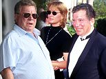 """Nerine Kidd and William Shatner during """"Star Trek: 30 Years and Beyond - A Live Tribute"""" at Paramount Studios in Los Angeles, California, United States. (Photo by Albert L. Ortega/WireImage)"""
