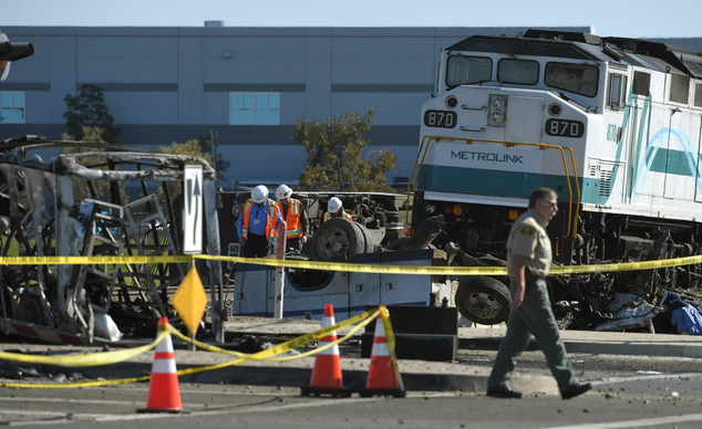 The train, the first of the morning on the Ventura route, had just left its second stop of Oxnard on its way to downtown Los Angeles when it struck the truck around 5:45 a.m. on Tuesday
