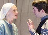 Measure for Measure performed at the Young Vic Romola Garai as Isabella, Paul Ready as Angelo ©Alastair Muir 08.10.15
