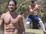 """EXCLUSIVE: Valentin """"Val"""" Chmerkovskiy has a post-hike stretch after his workout in Los Angeles.\n\nPictured: Val Chmerkovskiy\nRef: SPL1151873  151015   EXCLUSIVE\nPicture by: Deano / Splash News\n\nSplash News and Pictures\nLos Angeles: 310-821-2666\nNew York: 212-619-2666\nLondon: 870-934-2666\nphotodesk@splashnews.com\n"""