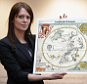 LONDON, ENGLAND - MARCH 25:  Head of European Prints, Severine Nackers holds a celestial Map of the Southern Sky by Albrecht Durer, at Sotheby's Auction House on March 25, 2011 in London, England. The two woodcut maps depicting the Northern and Southern skies circa 1515, are the earliest printed star charts of their kind ever published in Europe, and are expected to fetch between £120,000-180,000 GBP when they go on sale at the 'London sale of Old Master, Modern and Contemporary prints' at Sotheby's Auction house on March 30, 2011.  (Photo by Dan Kitwood/Getty Images)