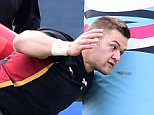 Wales' Dan Lydiate during a training session at Hazelwood, London.