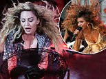 Picture Shows: Madonna  October 15, 2015    Madonna performs in Vancouver, Canada, and uses a stage fan to create some 80's style hair effects.    Non-Exclusive  UK RIGHTS ONLY    Pictures by : FameFlynet UK © 2015  Tel : +44 (0)20 3551 5049  Email : info@fameflynet.uk.com