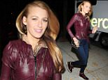EXCLUSIVE FAO DAILY MAIL ONLINE GBP 40 PER PICTURE\n Mandatory Credit: Photo by Guillermo Landetta/Dbdpix.Co/REX Shutterstock (5254467a)\n Blake Lively leaving a magazine photoshoot\n Blake Lively out and about, New York, America - 14 Oct 2015\n \n