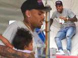 Chris Brown and his daughter, Royalty, attended the barthday party held for Tyga's son, King, at the Racer's Edge Indoor Karting.  Kylie Kardashain, Kanye West and Nori attended, along with Kourtney Kardashian and her children, Mason, Penelope and Reign.  Mason and Nori were spotted on the inflatable slide, wearing racing shades.  Friday, October 16, 2015 X17online.com