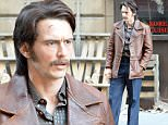 James Franco sports a bushy mustache, 80s leather jacket and some flares on the set of Deuce in New York. The TV movie, set during the height of the porn and prostitution boom in Manhattan, sees Franco as a player in the seedy world around Times Square during the period.\n\nPictured: James Franco\nRef: SPL1152719  161015  \nPicture by: Splash News\n\nSplash News and Pictures\nLos Angeles: 310-821-2666\nNew York: 212-619-2666\nLondon: 870-934-2666\nphotodesk@splashnews.com\n