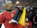 Belgium's Vincent Kompany celebrates after winning against Israel during their Euro 2016 group B qualifying soccer match at King Baudouin stadium in Brussels, October 13, 2015.  REUTERS/Francois Lenoir
