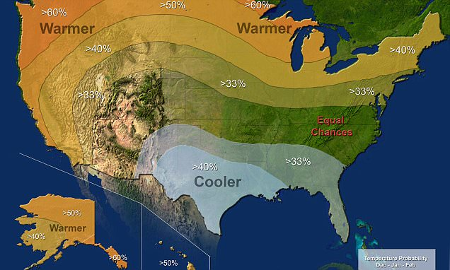 El Niño will bring a cold and wet winter but WON'T ease California's drought