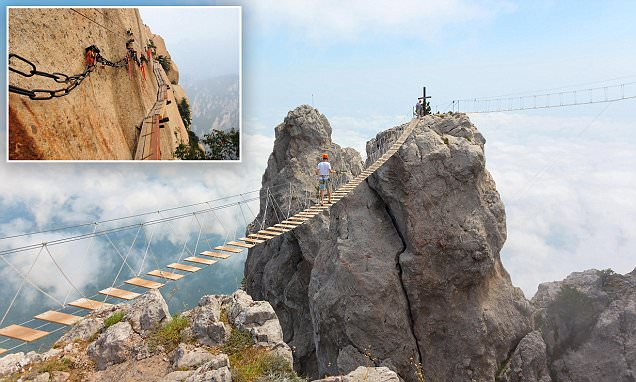 Would YOU dare to walk along the most TERRIFYING bridges on earth?