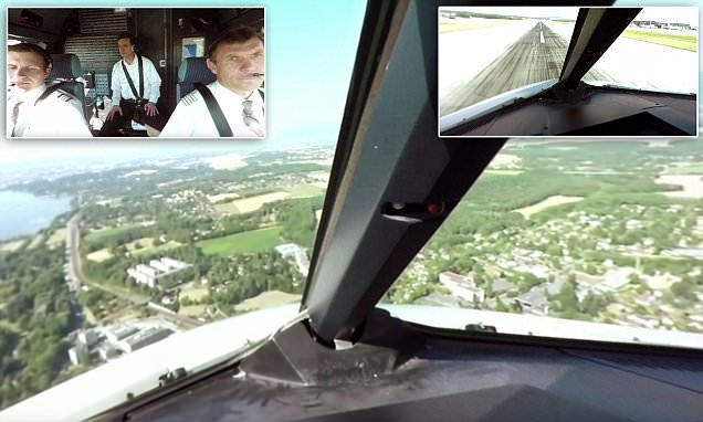 360 degree interactive video shows an Airbus A320 pilot's-eye view of taxi, take-off and