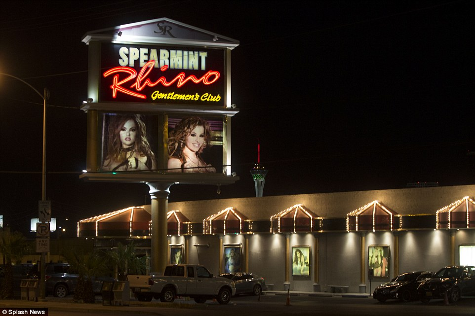Odom reportedly indulged in a $5,000-a-day, week-long bender at Spearmint Rhino in Las Vegas (above) a week before his binge at the Love Ranch