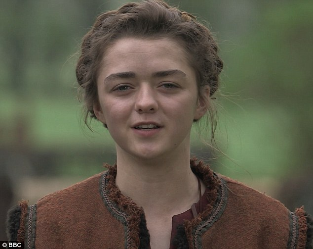 First look: Maisie Williams is transformed into a Viking for her guest role on Doctor Who