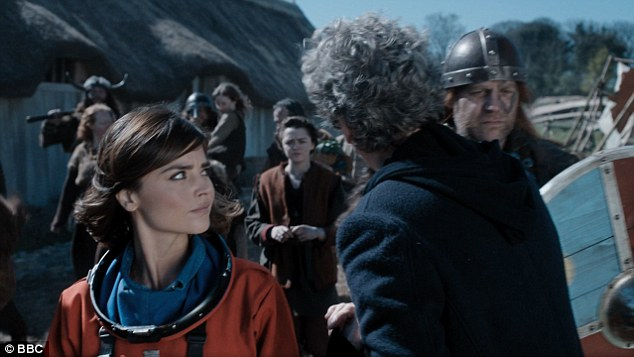 Suspicious: The Doctor can't take his eyes of Ashildr when first clocking her which arouses his assistant's suspicions