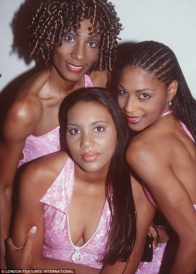 Girl group: The Braxton singers Toni, Tamar and Towanda pose for a photo in the early 90s