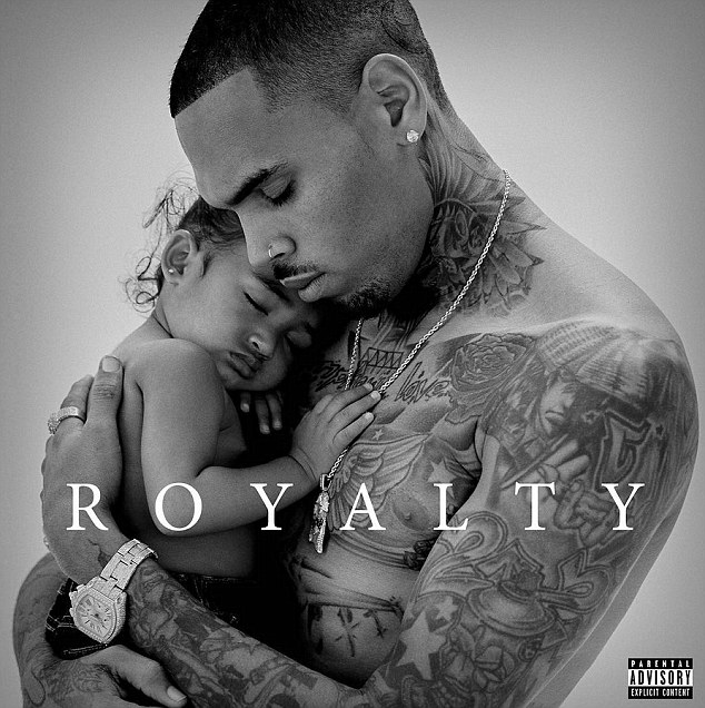 Proud papa: Chris took to Instagram on Friday to debut the tender cover of his upcoming album Royalty which he has named after his little girl