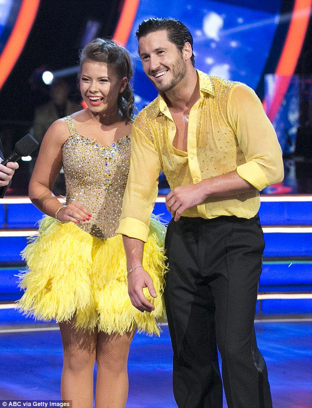 Leading the scoreboard: On Monday Bindi was paired with  Val Chmerkovskiy as part of Switch Up Week where the celebrities swapped dance partners with their rivals. The duo gained an impressive 37 points