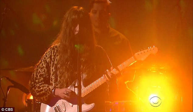 Indie darlings: Musical guest Beach House who performed single One Thing from their newly released album Thank Your Lucky Stars to close out the show
