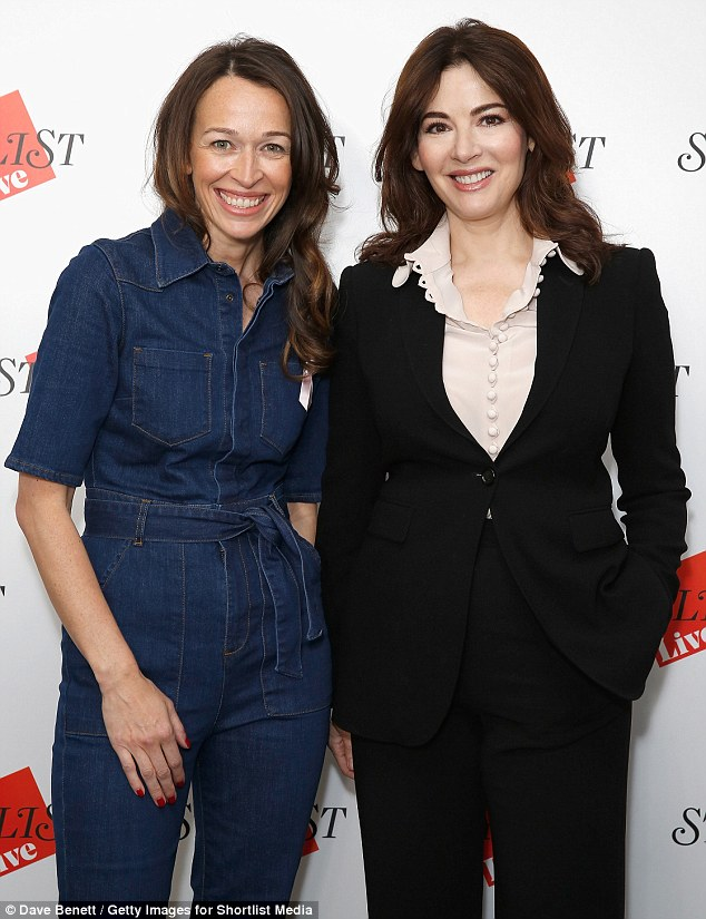 Inspiring women: The nationally-hailed domestic goddess posed with Stylist editor-in-chief, Lisa Smosarski, ahead of the pair's conversation
