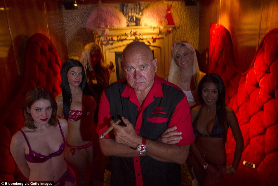 Dennis Hof, pictured, owner of the Love Ranch in Nevada says that two of his workers found Odom unconscious