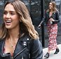 Picture Shows: Jessica Alba  October 16, 2015\n \n Actress, Jessica Alba stops by a studio in Santa Monica, California. Jessica Alba let out her inner biker in a black leather jacket and black ankle boots. \n \n Non-Exclusive\n UK RIGHTS ONLY\n \n Pictures by : FameFlynet UK © 2015\n Tel : +44 (0)20 3551 5049\n Email : info@fameflynet.uk.com