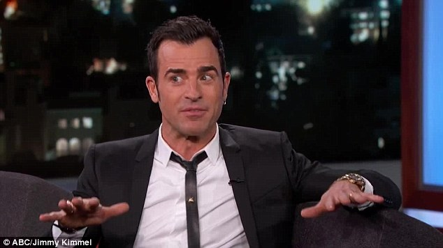 Low key: Details of Justin Theroux's surprisingly tame bachelor party emerged on Jimmy Kimmel Live