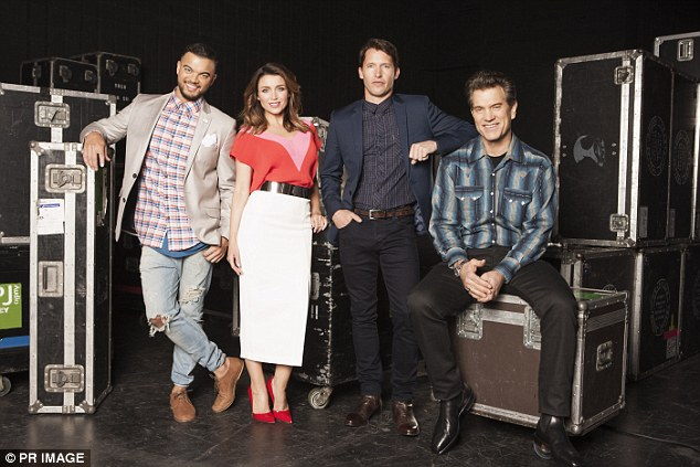 TV star: The media personality often sports exquisite outfits while appearing as a judge on The X Factor alongside Guy Sebastian, James Blunt and Chris Isaak