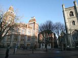 St Lawrence church and town hall in Reading.    Pictures By Graham Hussey