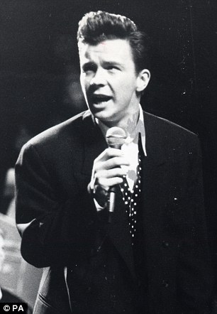 Rick Astley, pictured at the Royal Albert Hall in London in 1988
