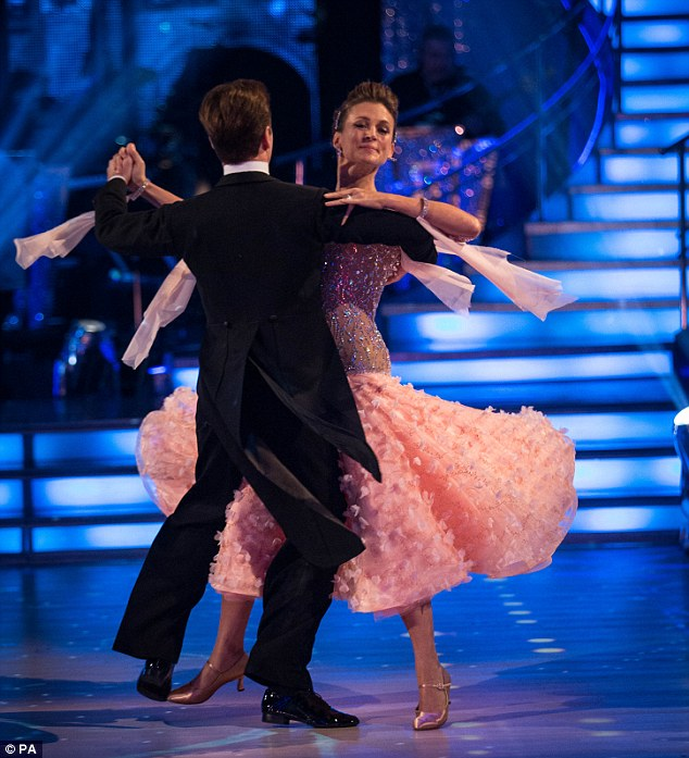 Success: Katie Derham performed an impressive u-turn on BBC1's Strictly Come Dancing, which saw her top the leader-board with class and style