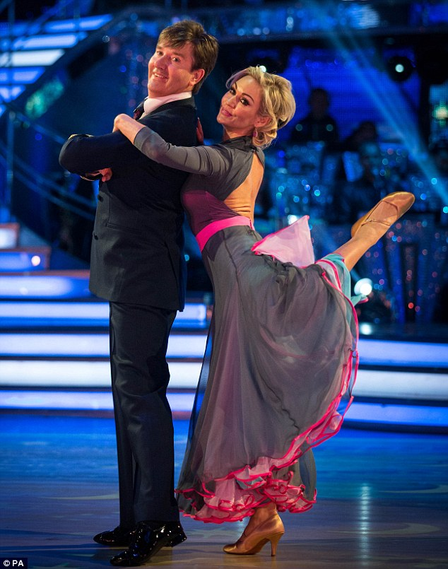 Failure to launch: Daniel O'Donnell then performed an aviation-themed dance with Kristina Rihanoff