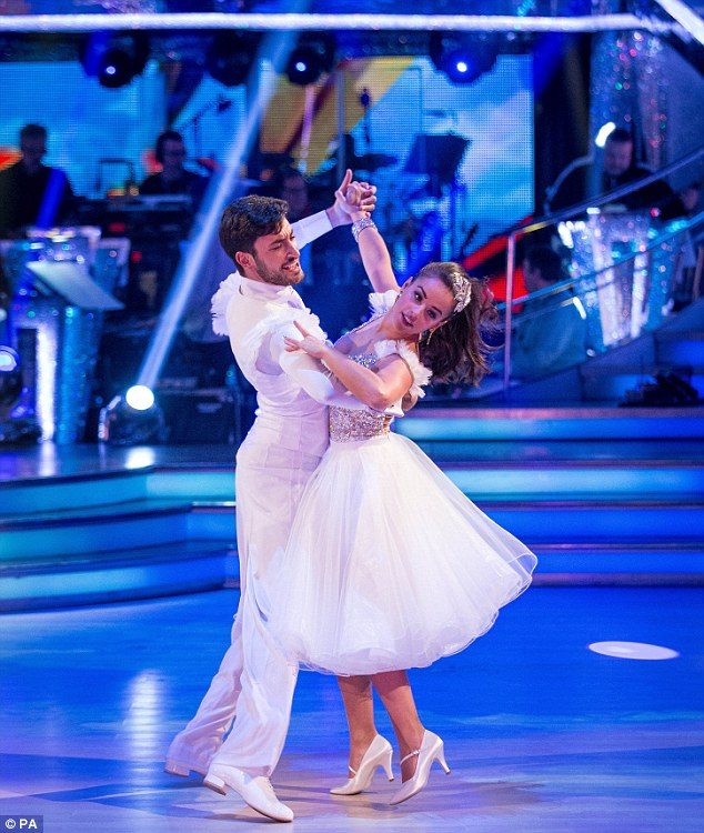 Magical: Georgia May-Foote then danced the quick-step with Giovanni to the Cathy Dennis-penned Reach
